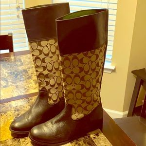 Coach boots (preowned)